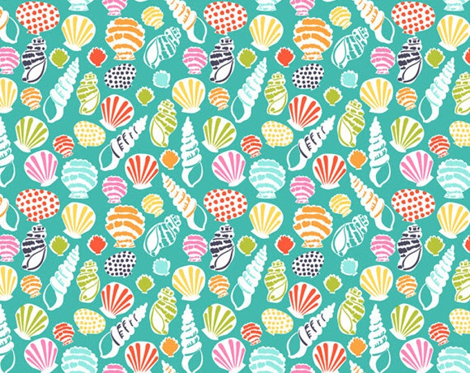 Half Yard Sun-sational - Beachcomber in Turquoise - Cotton Quilt Fabric - designed by Maude Asbury for Blend Fabrics - 101.117.02.1 (W3338)