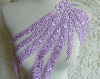 Lace Applique Trim, Wedding Lace Applique, Lavender Venice Applique, DIY Wedding Accessory