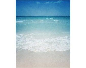 Large wall art, large beach art, vintage beach photography, ocean photography, bedroom art, ocean decor Siesta Key art Florida In Love 16x20