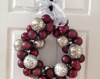 wreath made with ornaments