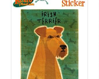 Irish Terrier Little Dog Vinyl Sticker - #63678