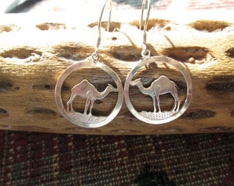 Camel Sterling Hoop Earrings