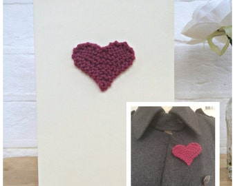 Unique Greeting Cards, Wedding Card Congratulations, Romantic Cards , 7th Wedding Anniversary Gift For Her, Heart jewelry, Fiance Card