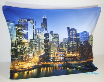 "Cushion ""Skyline"" 38 x 50 cm - communications"