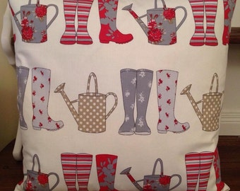 Gorgeous welly boots cushion, choice of two colours