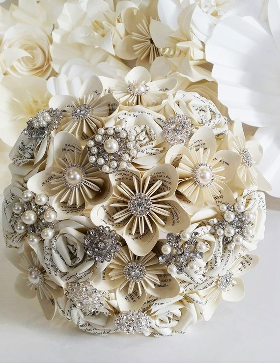 paper flower bouquets for weddings items similar to paper book flower bouquet origami uk 6365