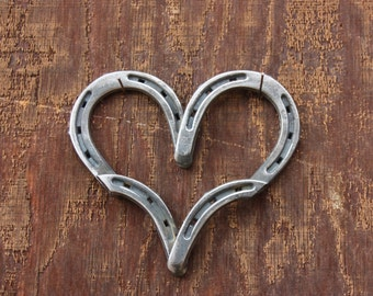 Country Home Decor, Horseshoe Heart, Rustic Heart, Heart Decor, Heart Decoration, Horseshoe Decor