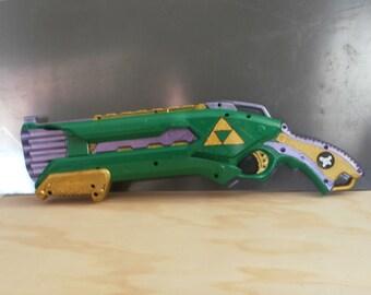 Legend of Zelda inspired Nerf Roughcut 2X4 - Firing