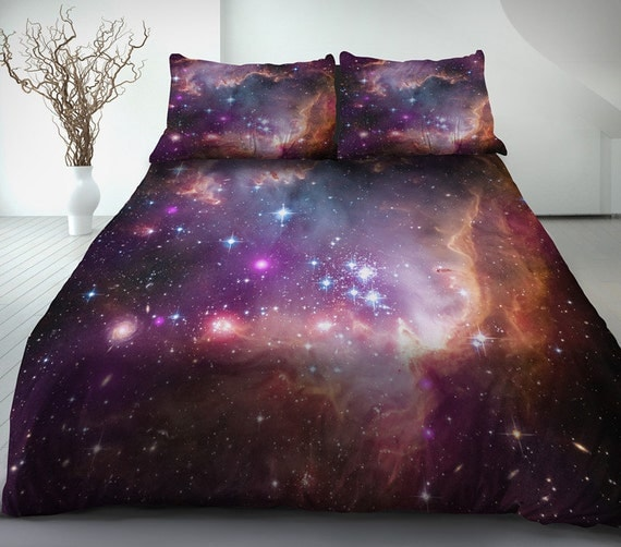 Galaxy bedding set galaxy duvet cover galaxy bed sheet by LFsee