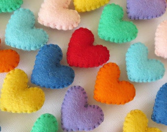 Heart Magnet - Small Felt Heart - Love Token