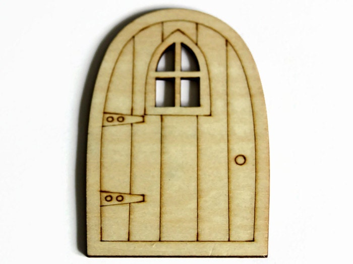 Wooden fairy door laser cut door elf door hobbit door for Wooden elf door