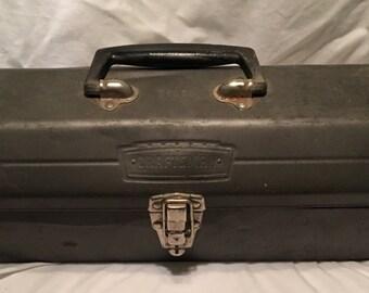 Vintage 1950s Craftsman Grey Tool Box