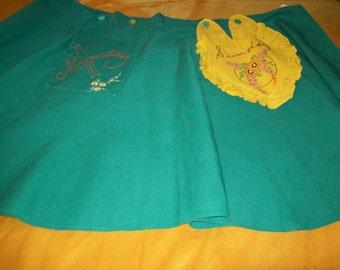 Vintage Embroidered Apron  #51