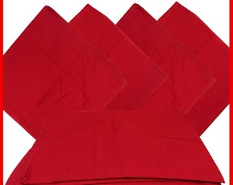 """Red Solid Bandanas -  27"""" x 27"""" 12 Pack (extra large) 100% Cotton"""