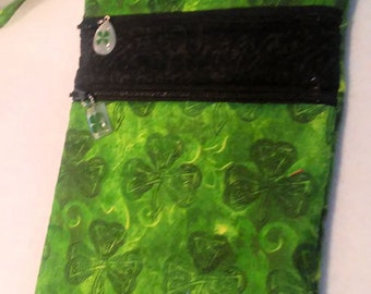 Shamrock Purse - Irish - St. Patricks Day -  Purse -  Bag - Cross Body - Hipster - Quilted - Erin Go Bragh