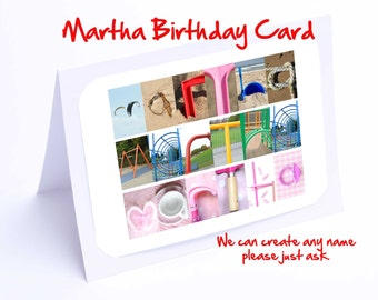 Martha Personalised Birthday Card