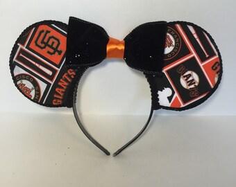 San Francisco Giants Inspired Mouse Ears