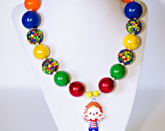 Chunky Necklace, Circus Chunky Necklace, Circus Theme Birthday Party, Circus Birthday, Circus Birthday Outfit, Clown, Kids Circus Party