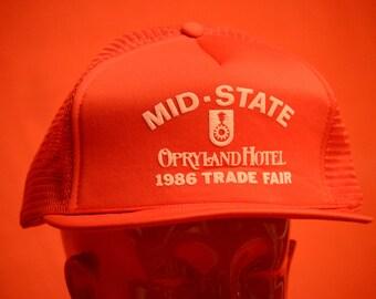 Vintage Opryland Hotel Trucker Hat 1986