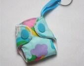 Pastel Rainbow print Basic Cloth Diaper Keychain diaper ornament, Diaper key chain diaper key fob