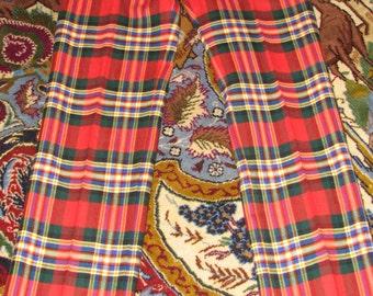 Checkered Men's Pants - Slacks - Bold colors - Hippy Pants - Plaid pants