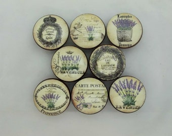 Set of 8 French Lavender Cabinet Knobs