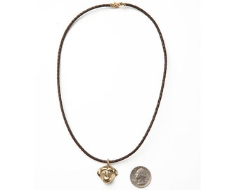 Monkey necklace, Monkey pendants, Monkey jewelry, Monket charm, Metal monkey, Monkey head, Monkey, Brass monkey, Monkey gift, Monkey design