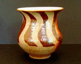 Ceramic vase, flower vase, Shino vase, handmade vase, red vase, stoneware, high fired
