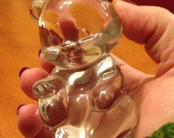 Crystal Glass Fenton Teddy Bear