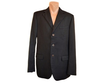 Vintage RENATO BALESTRA men blazer jacket virgin wool buttons 3