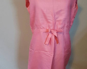 1950s Pink Sleeveless Dress
