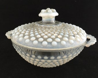 Hobnail Glass Candy Dish