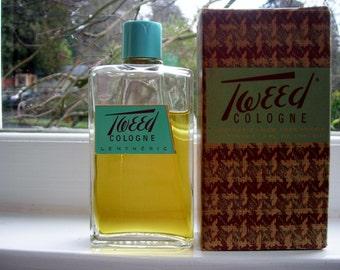 vintage Lentheric Tweed cologne, 3.5 oz. splash bottle with box