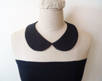 Peter Pan Collar Detachable Collar, black collar necklace