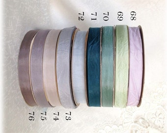 SHABBY RIBBONS  3 yards or more shabby colours art doll teddy bear making supplies