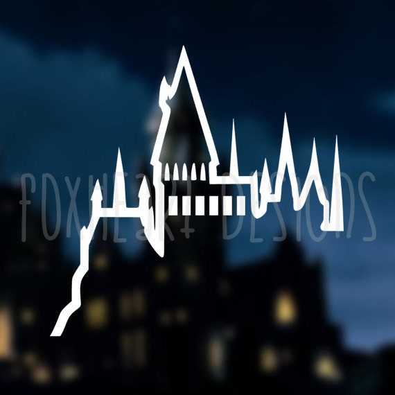 Hogwarts castle decal hp decal laptop decal car decal - Hogwarts decal ...