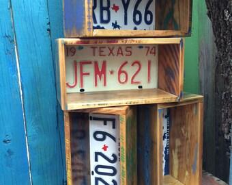License Plate box, shadowbox, wall niche