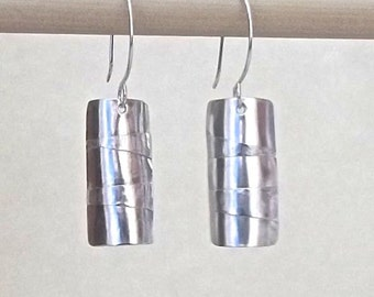 Silver shield earrings
