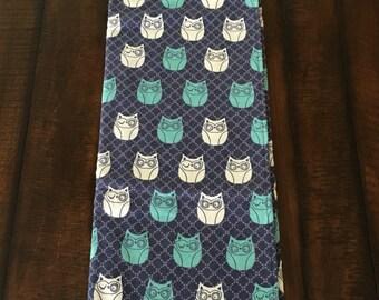 Inventory Sale: Winking owl flannel stroller blanket