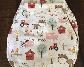 Farm fun burp cloth