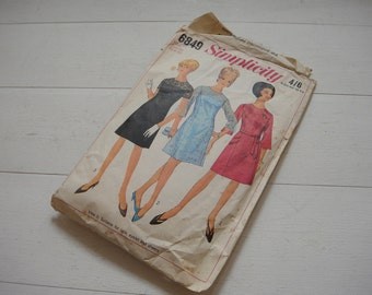 Evening Dress Pattern, One Piece Dress, Circa 1960, Simplicity 6849, Size 20