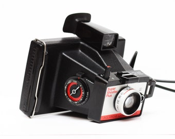 Vintage Polaroid Super Shooter Plus Instant Film Land Camera / Made in USA 1970s / Fully Operational