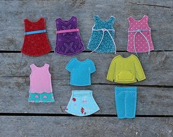 """Custom Outfits for Felt """"paper"""" doll, 1 outfit of your choice"""