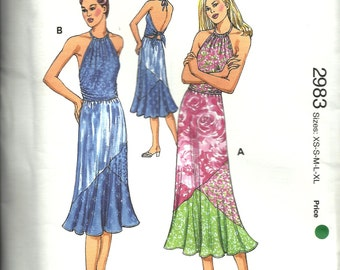Kwik Sew Pattern 2983  Misses Top and Skirts   Size xs,sm,med,lg,xlg   UNCUT