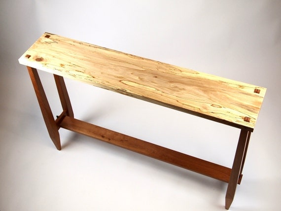 Narrow Console Table Sofa Table Hall Table Sycamore