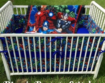 4pc. Avengers Crib Bedding Set