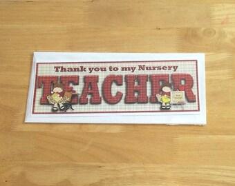 Nursery Teacher Card, Teacher Card, Thank You Nursery Teacher Card, Thank You Teacher Card, Teacher Card, Nursery Card, Card For Teacher,