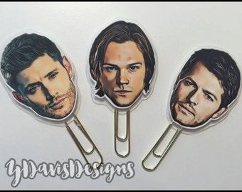 Supernatural Planner Clips! Perfect for Planners, Pocket Letters, Flip Books, Etc.