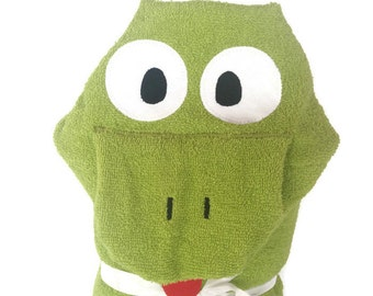 Kids Bath Towels Personalized Baby Gifts for Boy Personalized Hooded Towel Beach Towels for Kids Toddler Towel Frog Gifts