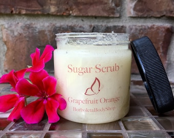 Sugar Scrub Grapefruit Orange | All Natural | 4oz | Sugar Scrub | Body Scrub | Exfoliant